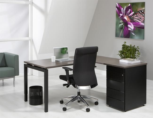 4ql1845a l bureau met ladenblok n aro line antra 180x160cm. Black Bedroom Furniture Sets. Home Design Ideas