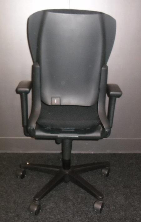 Ahrend 230 Bureaustoel Zwart.Ahrend 230 Hoge Rug Zwart Ahrend 230 Zwart Nieuwe Stof